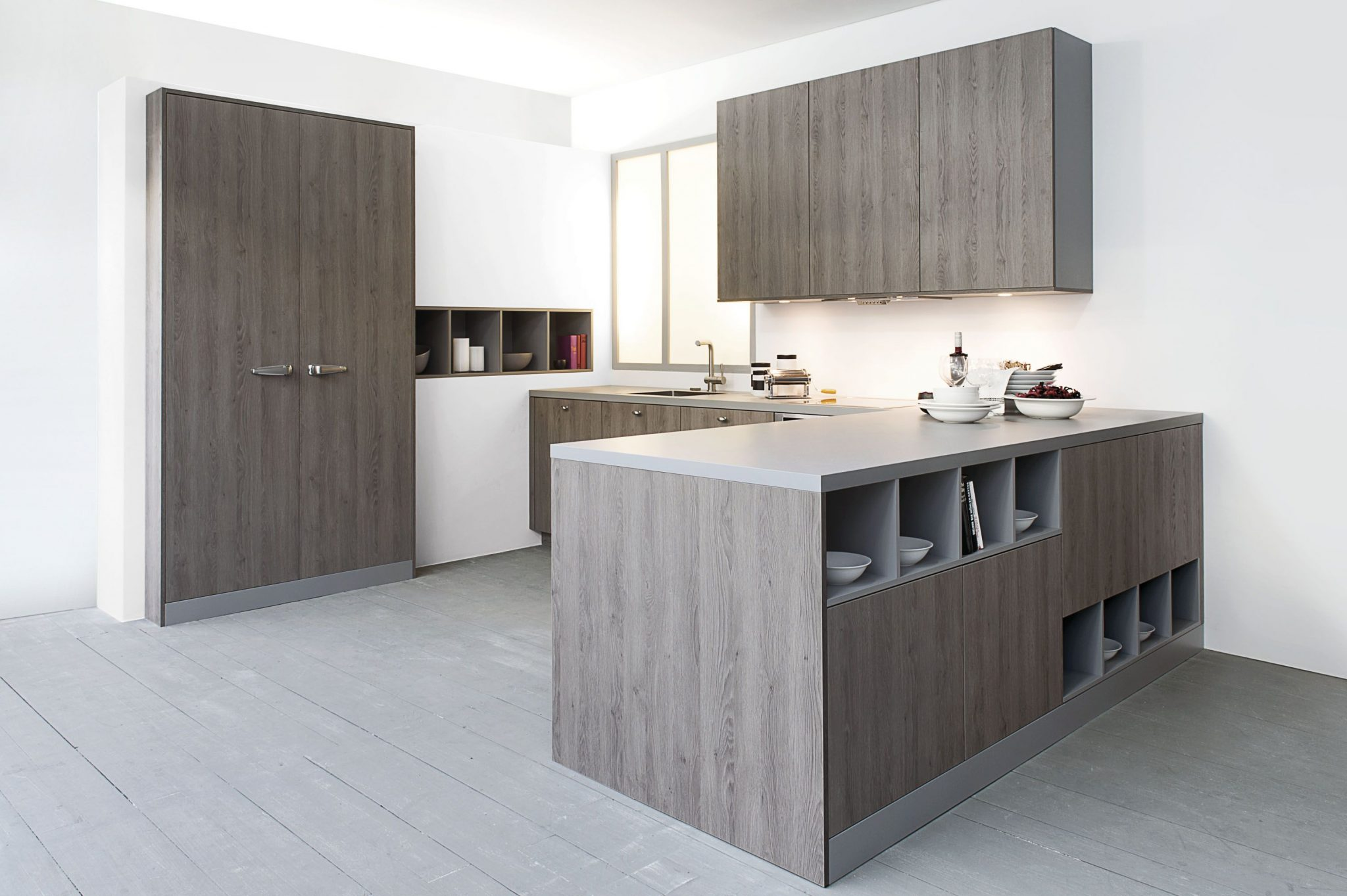 Strakke hout look keuken 7.5 bkb keukens